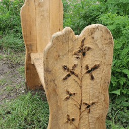 Flower Carving Themed Bench Seating By Flights Of Fantasy