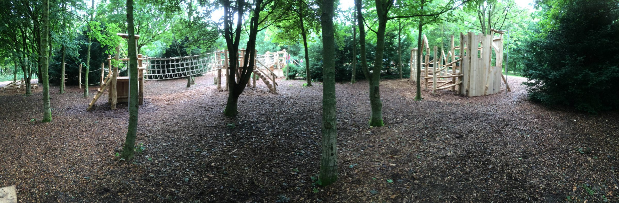 Forest Panorama Fountains Abbey And Studley Foyal Extensive Rustic Outdoor Woodland Play Area By Flights Of Fantasy