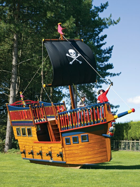 Forward Pirate Galleon Giant Wooden Play Pirate Ship For Children