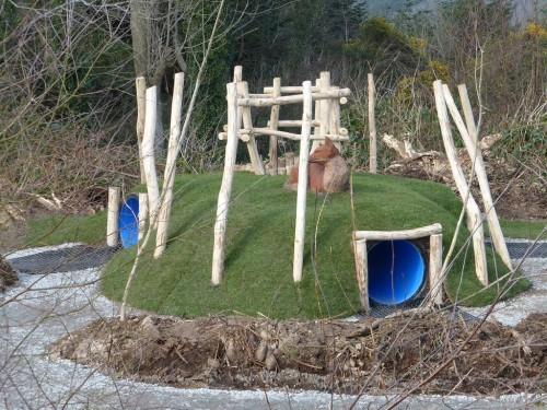 fox-hole-animal-wood-animal-themed-outdoor-play-area-with-animal-carvings-at-castlewellan-forest-park-northern-ireland