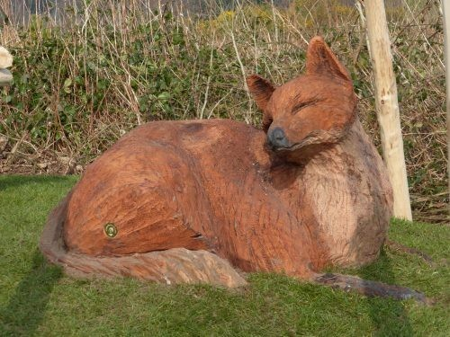 Fox Sculpture Wooden Carving By Flights Of Fantasy