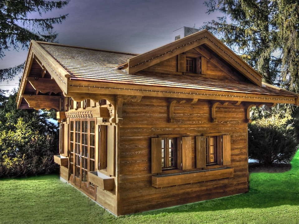 Swiss Chalet on playhouse castle plans