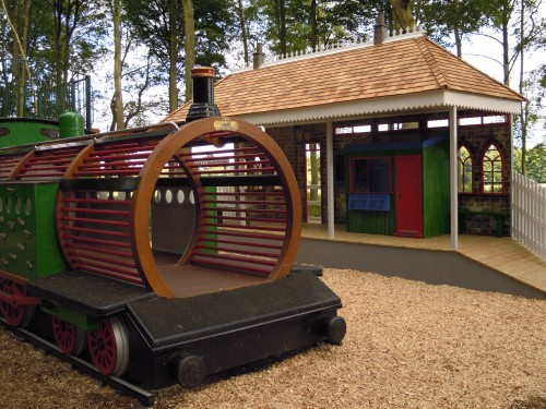 Front Childrens Play Area Replica Gwr Steam Train And Station At Wallington Hall