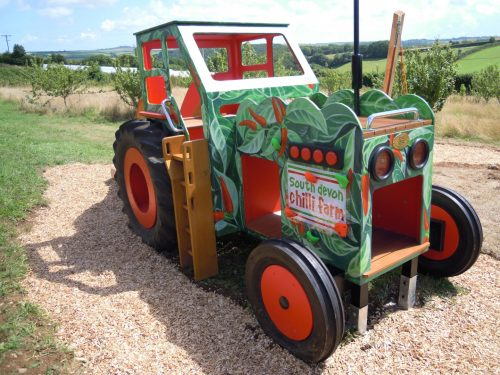 Front Left South Devon Chilli Farm Hand Made Play Tractor