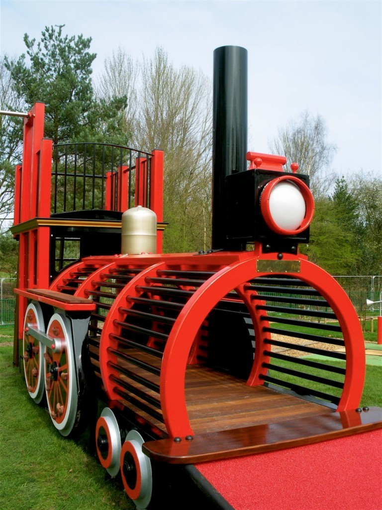 Front Right Runcorn Play Train Centrepiece Outdoor Play Area