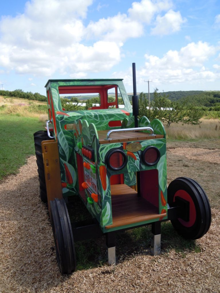 Front South Devon Chilli Farm Hand Made Play Tractor