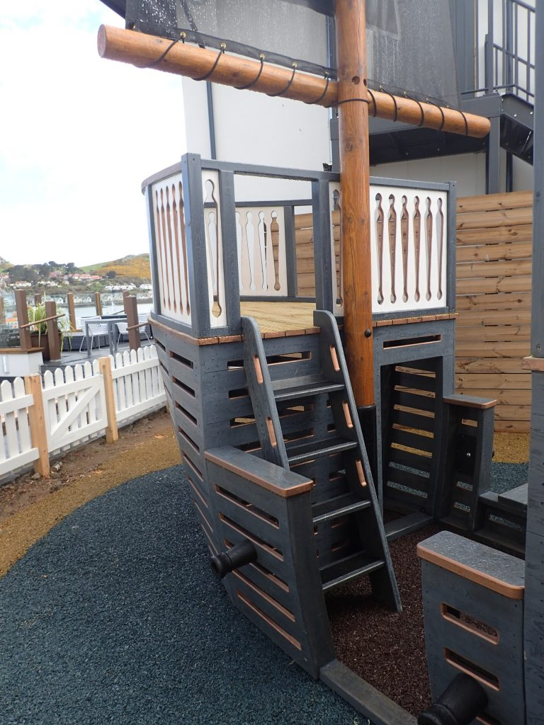 Front The Mulberry Wooden Pirate Ship Play Area