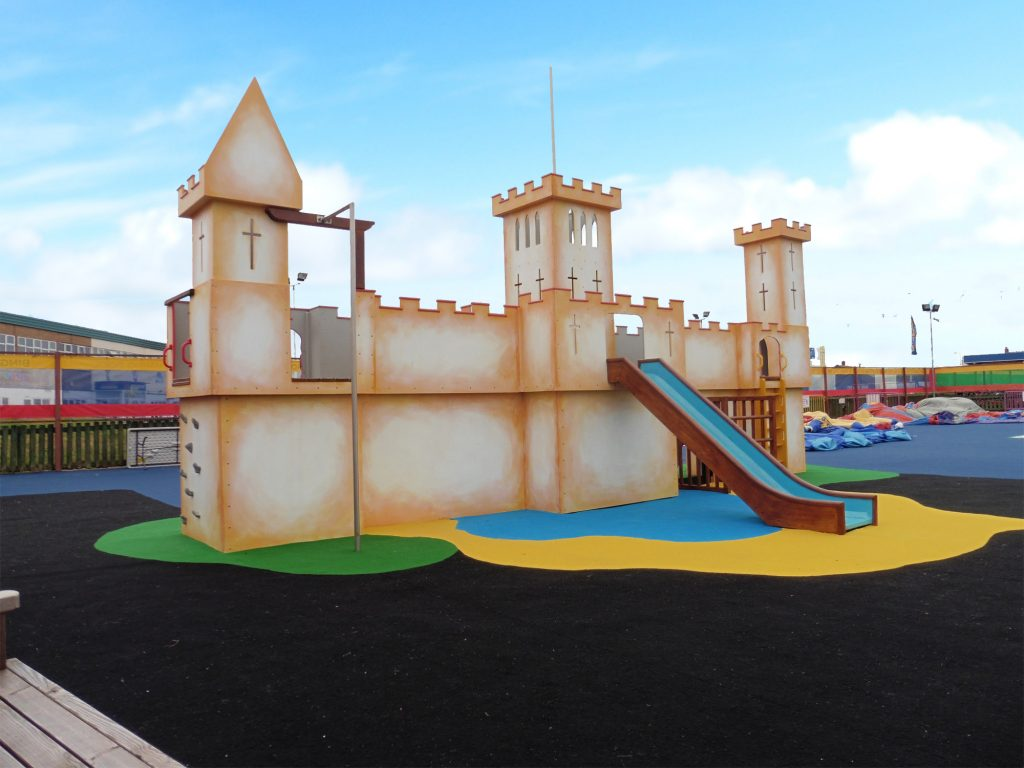 Front View Pontins Southport Play Castle