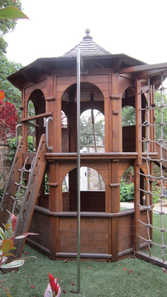 Full View Shincliffe Tower Multi Play Tower Children's Play Equipment Climbing Apparatus