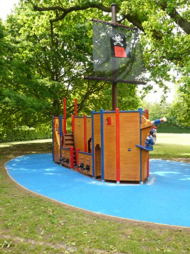 Galleon View Langton Green School Wooden Pirate Ship Play Area With Disabled Access 1