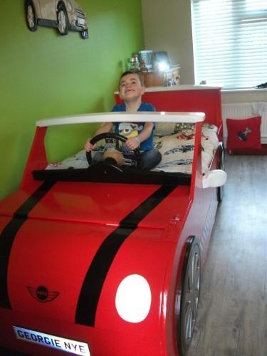 Georgie In His Mini Cooper Bed