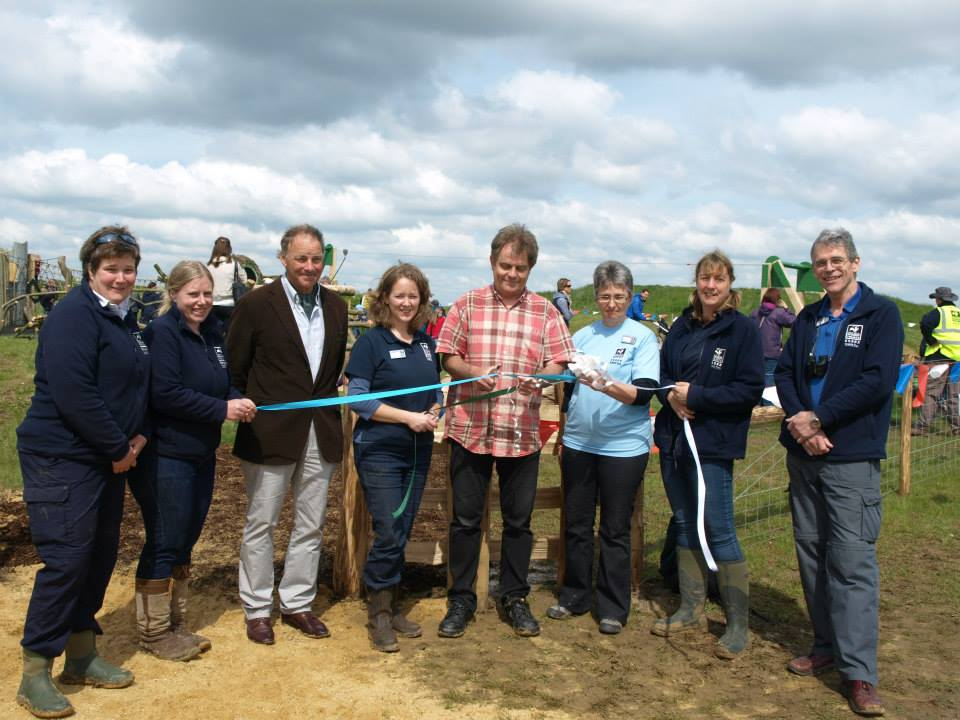 Grand Opening Ribbon Abberton Reservoir Childrens Outdoor Play Area By Flights Of Fantasy