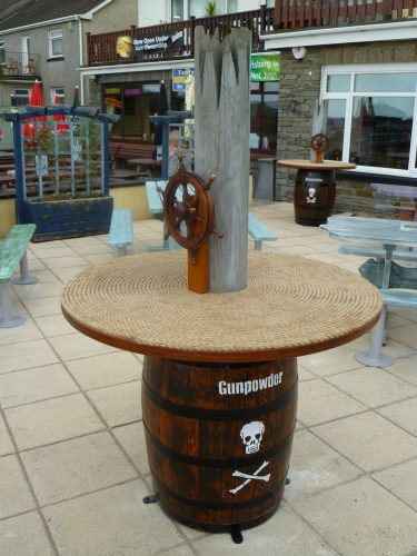 Gunpowder Barrel Table Smugglers Bar And Grill Amroth Pirate Themed Seating And Benches