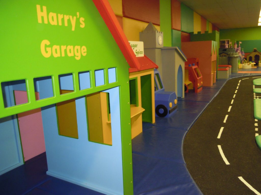 Harry's garage (Cheeky Monkey nursery indoor children's play area)