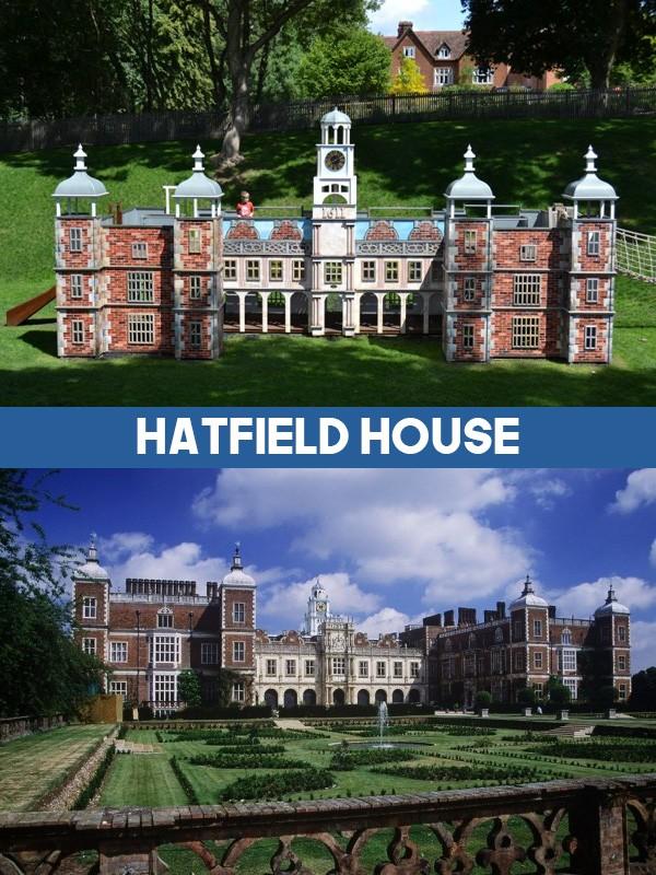 Hatfield House Miniature Replica Playhouse Play Area