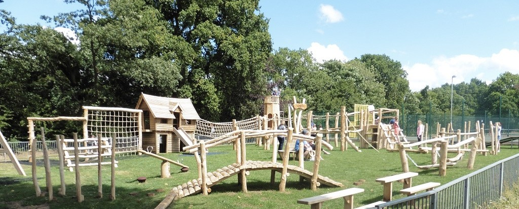 Holloway Hill Play Area Panorama
