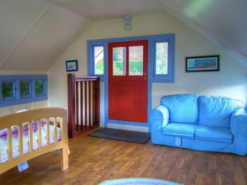 Interior-Upstairs-Woodsmans-Cottage-Childrens-Playhouse-Wendy-House-For-Sale