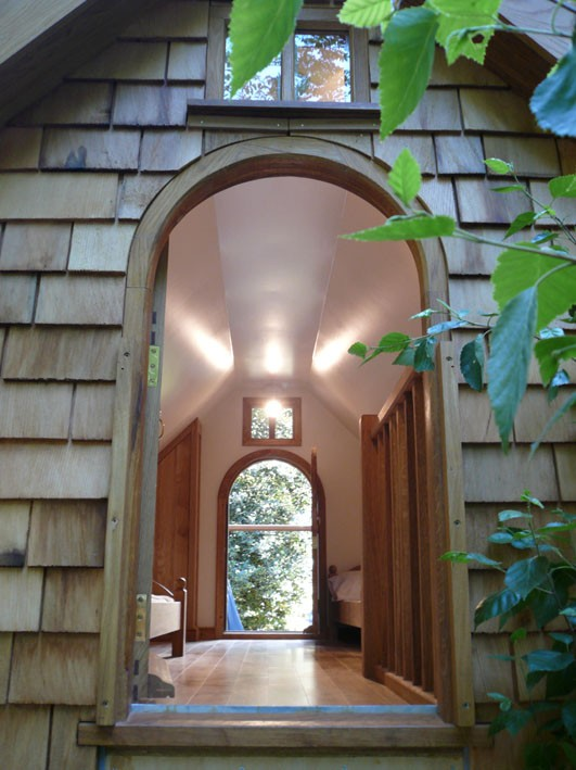 Interior Walnut Cottage Two Storey Custom Built Wooden Play House Playhouse With Shingle Roof