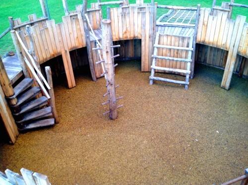 Interior of Play Castle (Replica of Farnham Castle) - Farnham Park Rustic Outdoor Play Area 11