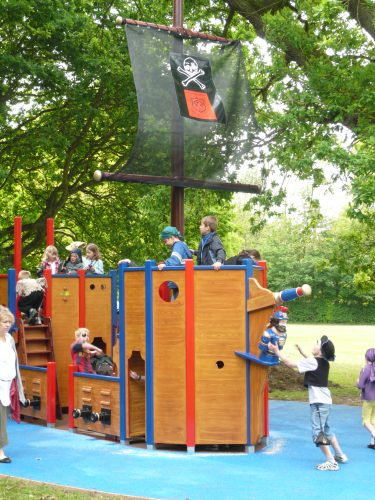 Junior Pirates Langton Green School Wooden Pirate Ship Play Area With Disabled Access 1