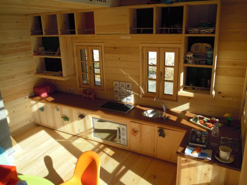 Kitchen Interior Swiss Chalet Miniature Replica Copy Childrens Wooden Play House Playhouse Fully Furnished