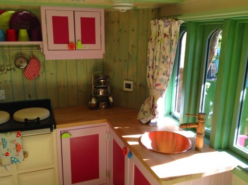 Kitchen Sink Rapunzels Dreamhouse Floral Fantasy Magical Fantasy Themed Childrens Playhouse Wendy House15