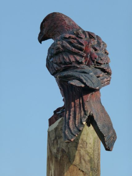 Kite Post Mounted Sculpture Wooden Carving By Flights Of Fantasy