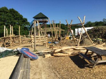 Knockhatch Adventure Park Play Area – Work in Progress 01