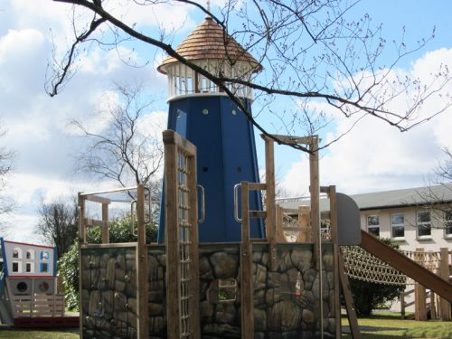 Lighthouse Shebbear School Nautical Playground With Ship And Lighthouse By Flights Of Fantasy
