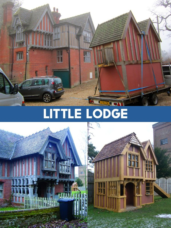 Little Lodge Miniature Replica Playhouse Play Area