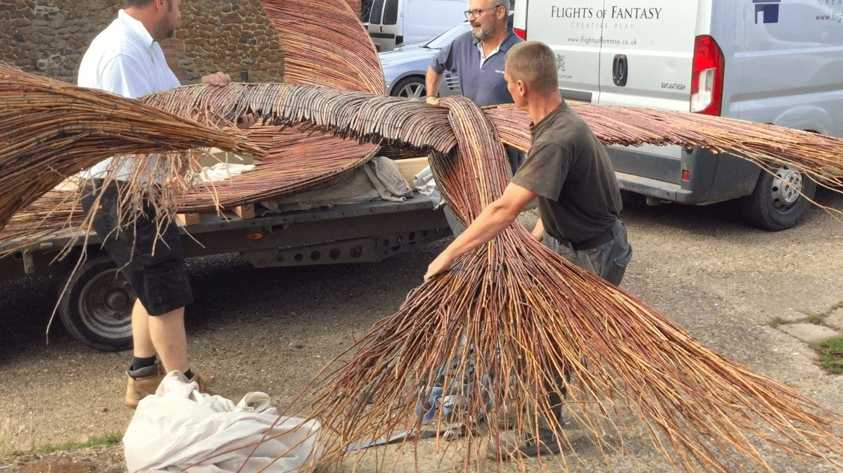 Loading Giant Swift Bird Sculpture