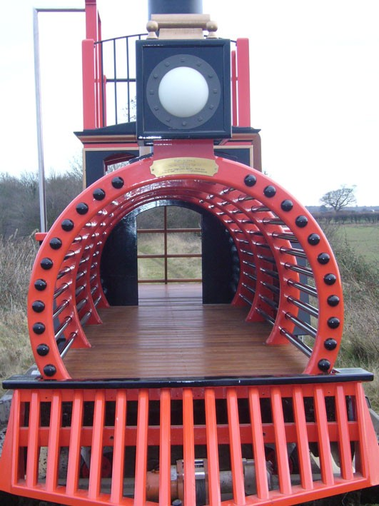 Look Through Pacific Locomotive Childrens Play Train With Climb Wall Slide Pole And Ladder