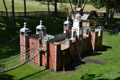 Looking Down Hatfield House National Trust Childrens Outdoor Wooden Play Area Replica By Flights Of Fantasy 1