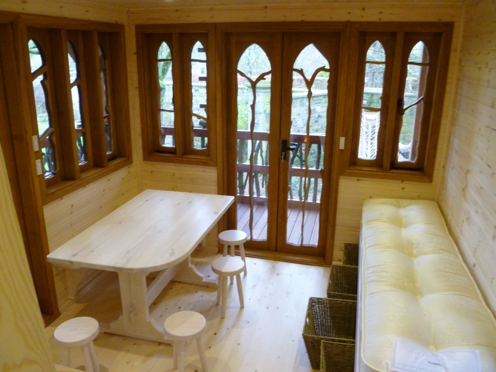 Lower Floor Main View – Pinewood Hideaway Custom Built Bespoke Treehouse Playhouse