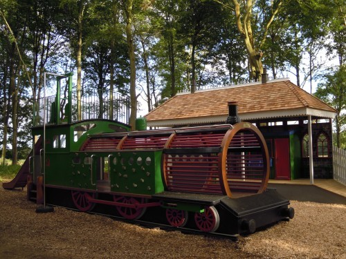 Main View Childrens Play Area Replica Gwr Steam Train And Station At Wallington Hall