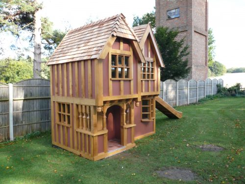 Main View Little Lodge Childrens Playhouse Wendy House Miniature Replica