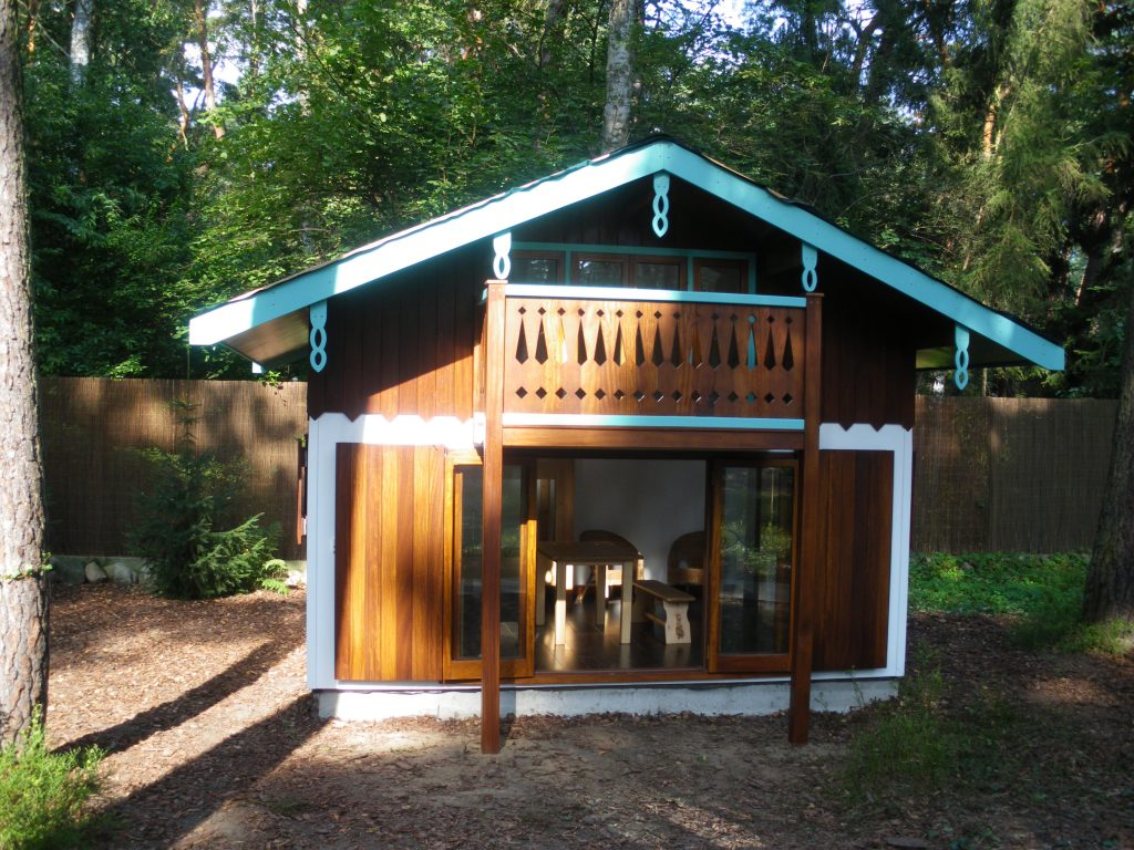 Main View Magdalenka Childrens Playhouse Wendy House In Poland Custom Built Replica Miniature