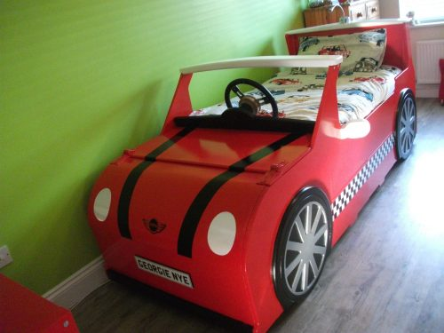 Main View Mini Cooper Bed Car Themed Red