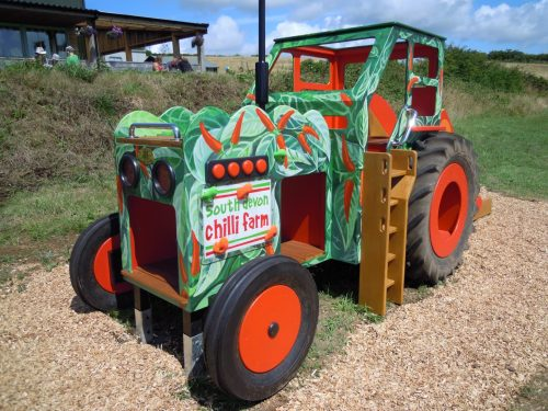 Main View South Devon Chilli Farm Hand Made Play Tractor