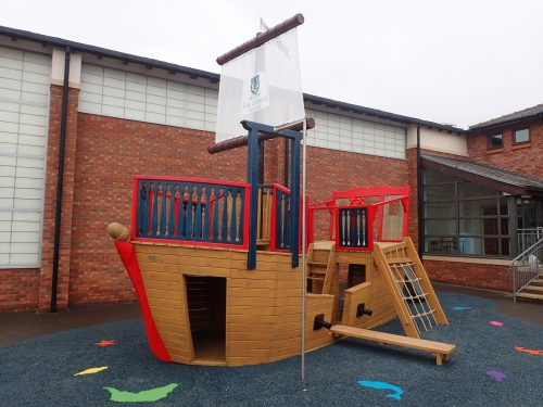 Main View The Grange School Pirate Ship Play Area