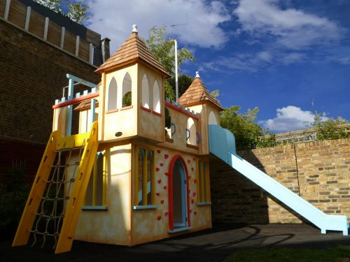 Main View Water Slide Castle Childrens Private Playhouse