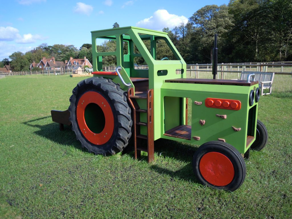 Main View Hatfield Farm Childrens Play Tractor With Slide 1