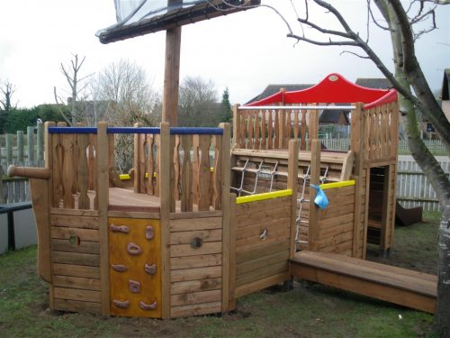 Main View With Plank Highnam Under Fives Pirate Ship Play Area 1