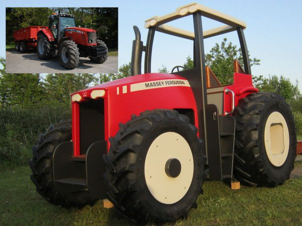 Massey Ferguson Play Tractor Miniature Replica