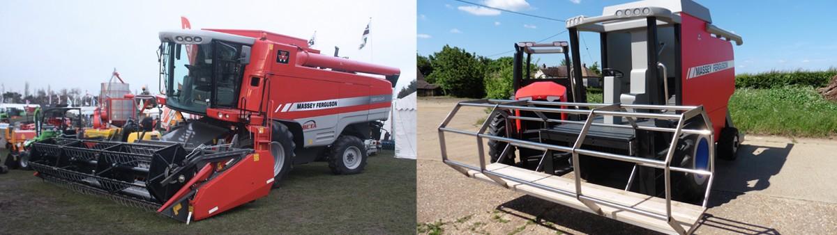 Massey Ferguson Replica Play Combine Harvester Red