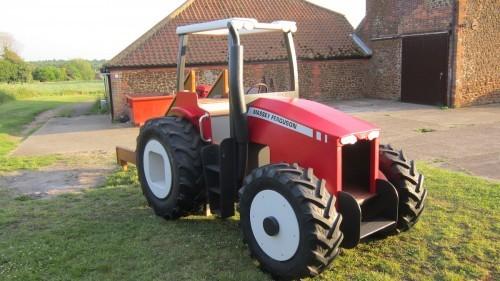 Massey Ferguson Replica Wooden Play Tractor in Norway 01
