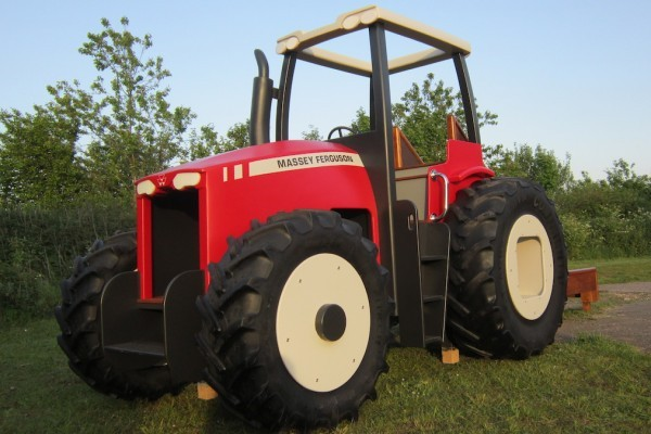 Massey Ferguson Replica Wooden Play Tractor in Norway 07