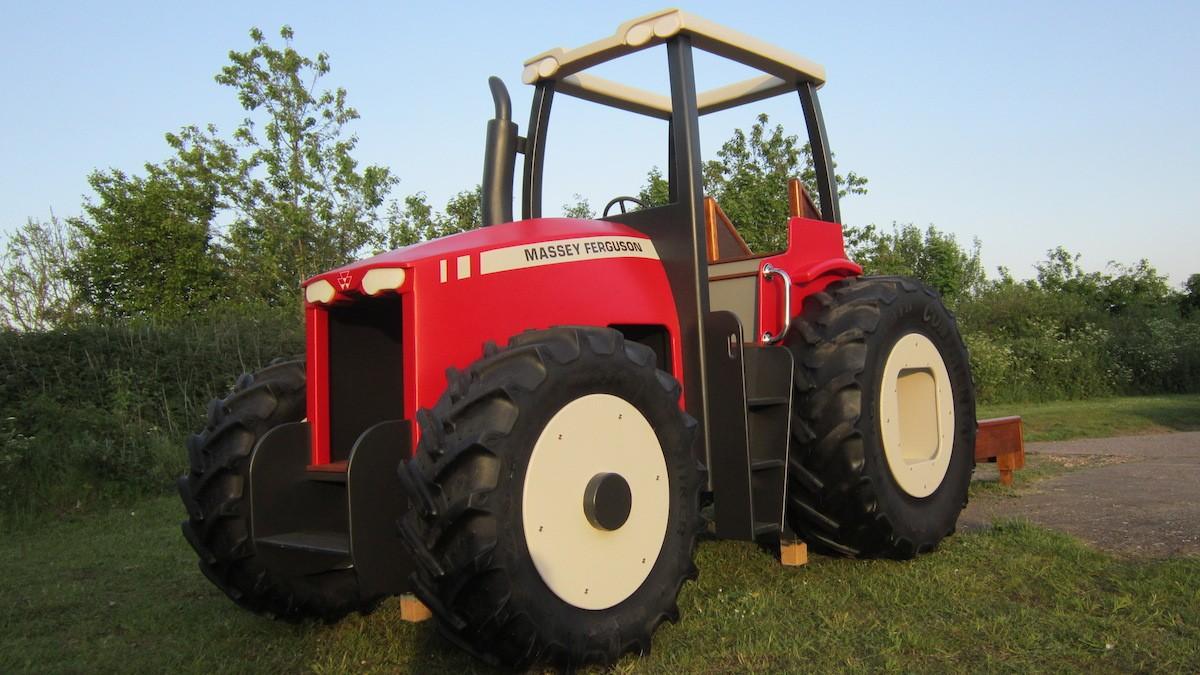 Massey Ferguson Replica Wooden Play Tractor In Norway 07