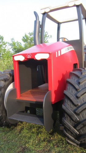 Massey Ferguson Replica Wooden Play Tractor In Norway 08
