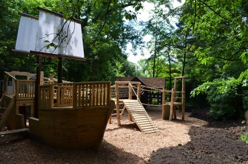 Mayflower And Hall Samlesbury Hall Childrens Outdoor Play Area With Replica Landmark And The Mayflower Play Ship By Flights Of Fantasy